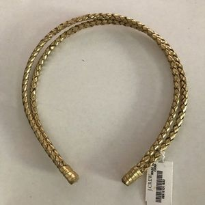 J. Crew Gold Braided Headband